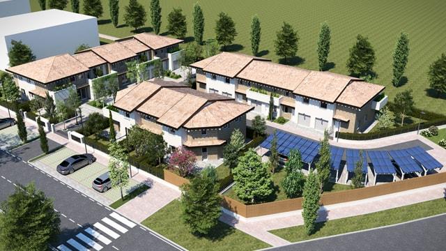 Realizzazione di complesso residenziale per 6+5+3 unità abitative IL BORGO