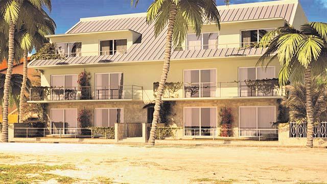 Realizzazione di edificio residenziale per vacanze (14 alloggi) e attività commerciali